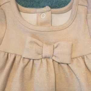 Janie and Jack Dresses - Janie and Jack gold holiday dress new with no tag